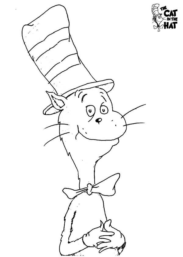 600x840 How To Draw Dr Seuss The Cat In The Hat Coloring Page Color Luna
