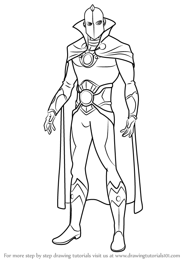 598x844 Learn How To Draw Doctor Fate (Dc Comics) Step By Step Drawing