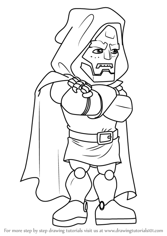 566x800 Learn How To Draw Dr. Doom From The Super Hero Squad Show (The
