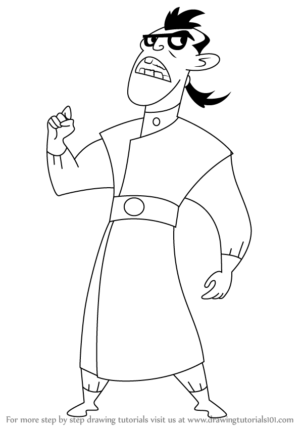 598x844 Learn How To Draw Dr. Drakken From Kim Possible (Kim Possible