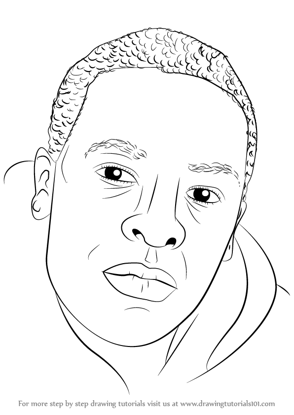596x842 Learn How To Draw Dr. Dre (Rappers) Step By Step Drawing Tutorials