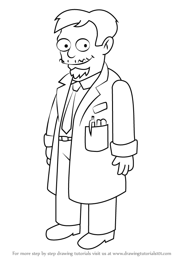 596x846 Learn How To Draw Dr. Nick Riviera From The Simpsons (The Simpsons