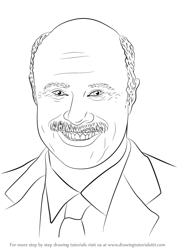 596x842 Learn How To Draw Dr. Phil Mcgraw (Famous People) Step By Step