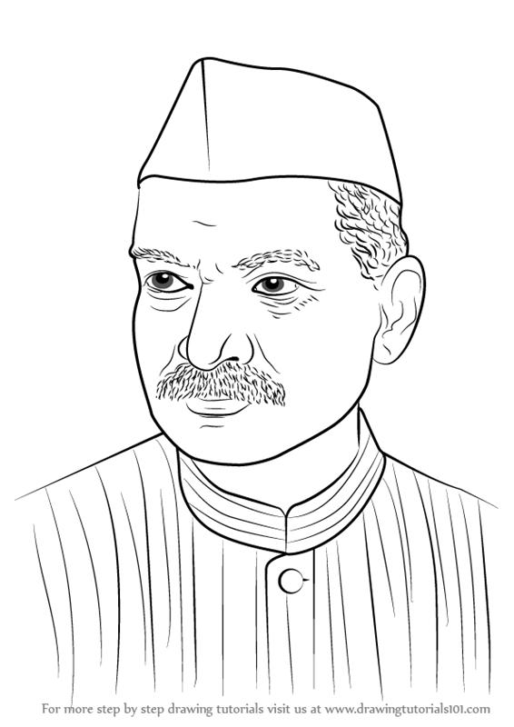 566x800 Learn How To Draw Dr. Rajendra Prasad (Politicians) Step By Step