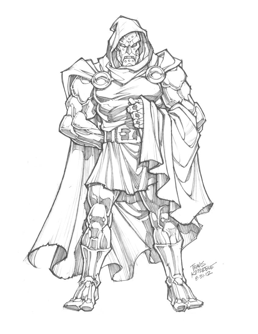 844x1090 Sketch Of The Day Dr. Doom By Skullbabyland