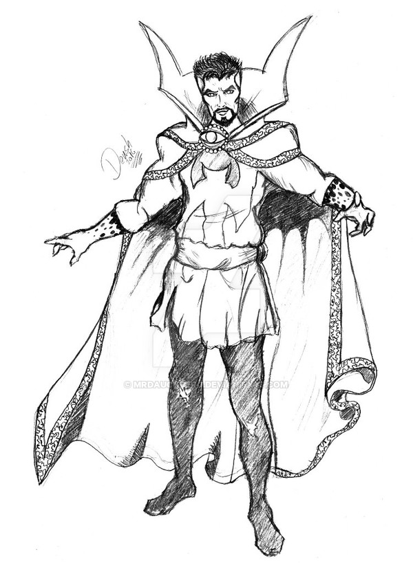 600x819 Doctor Stephen Strange 2016 Pencil Drawing By Mrdauchberg