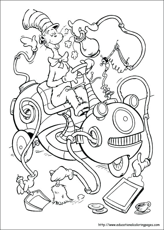 567x794 Dr Seuss Hat Coloring Page Coloring Pages Thing 1 And Thing 2