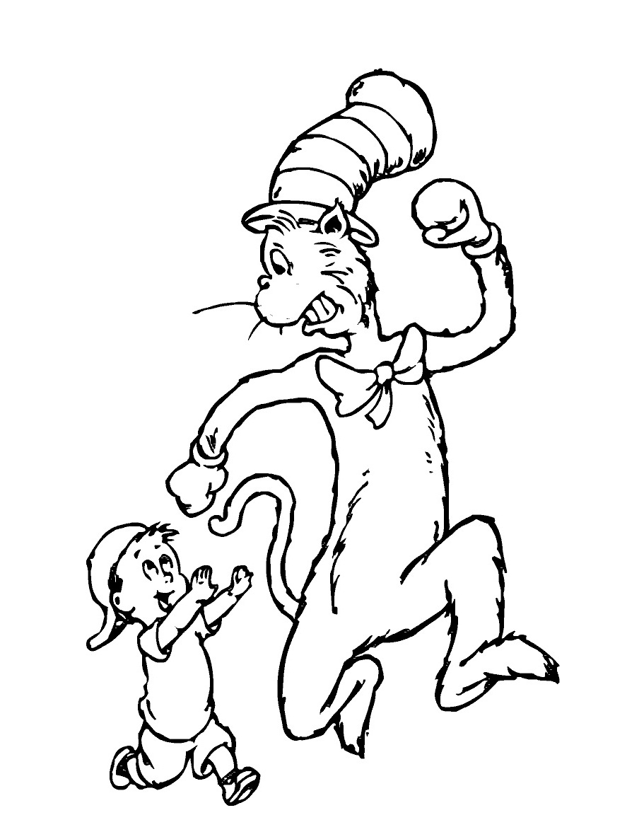 887x1176 Free Printable Cat In The Hat Coloring Pages For Kids