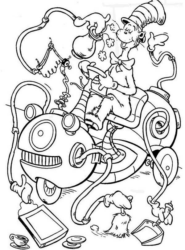 600x811 Cat In The Hat Coloring Pages How To Draw Dr Seuss The Cat In Hat