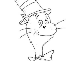 320x240 Cat The Hat Pictures To Color How To Draw Dr Seuss The Cat