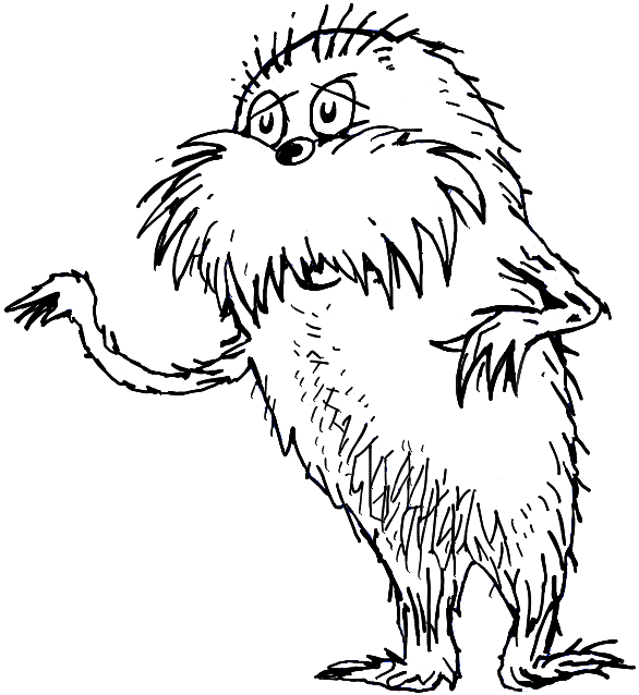 586x638 How To Draw The Lorax By Dr. Seuss With Step By Step Drawing