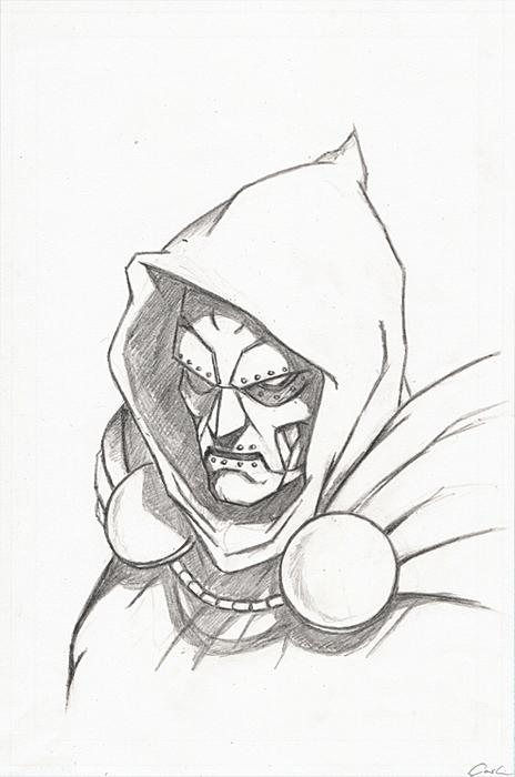 464x700 Doctor's Poll Dr.doom Drawing By Carstenbiernat