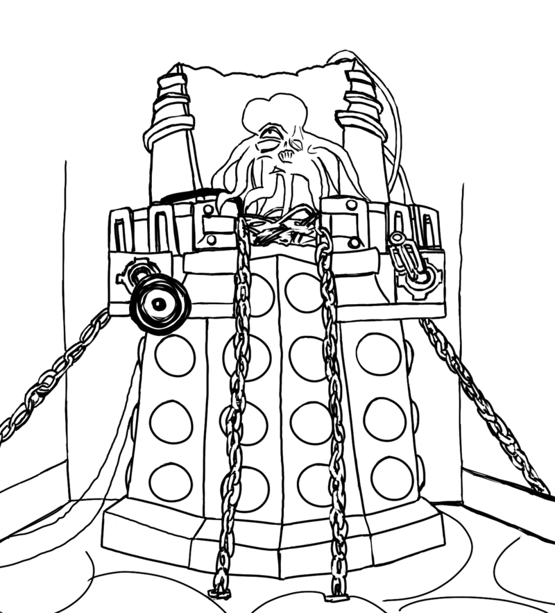 800x883 Doctor Who Dalek Coloring Pages