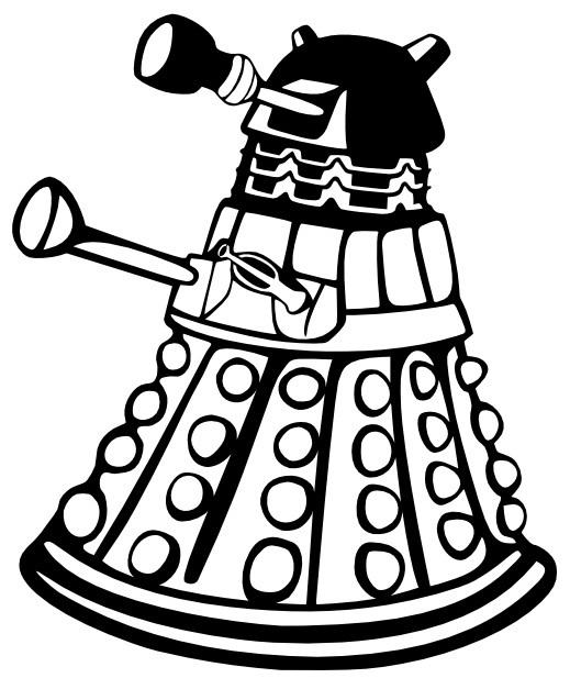519x617 Doctor Who Dalek Metal Wall Art