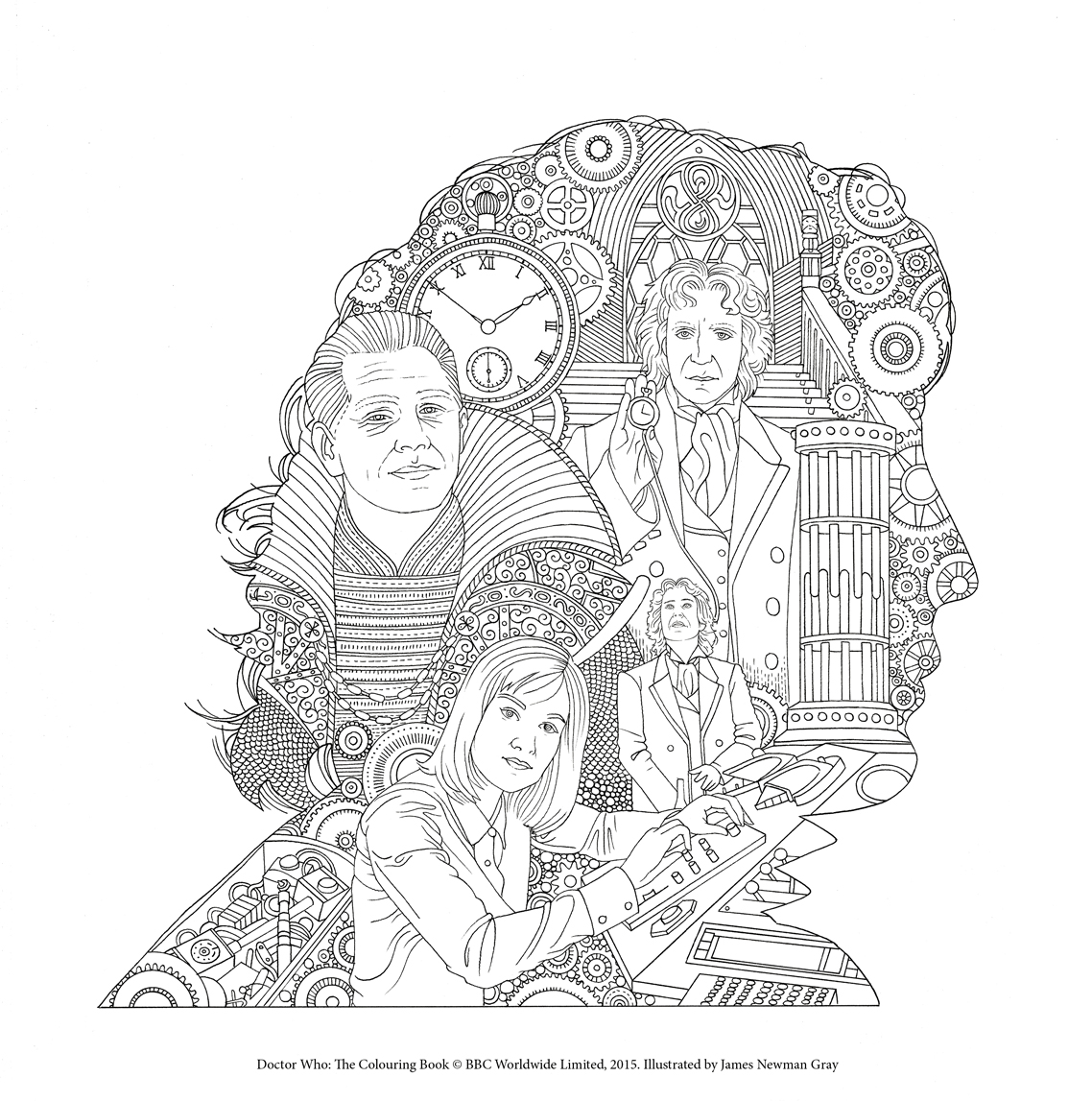 1138x1147 Doctor Who The Colouring Book Free Pattern Downloads