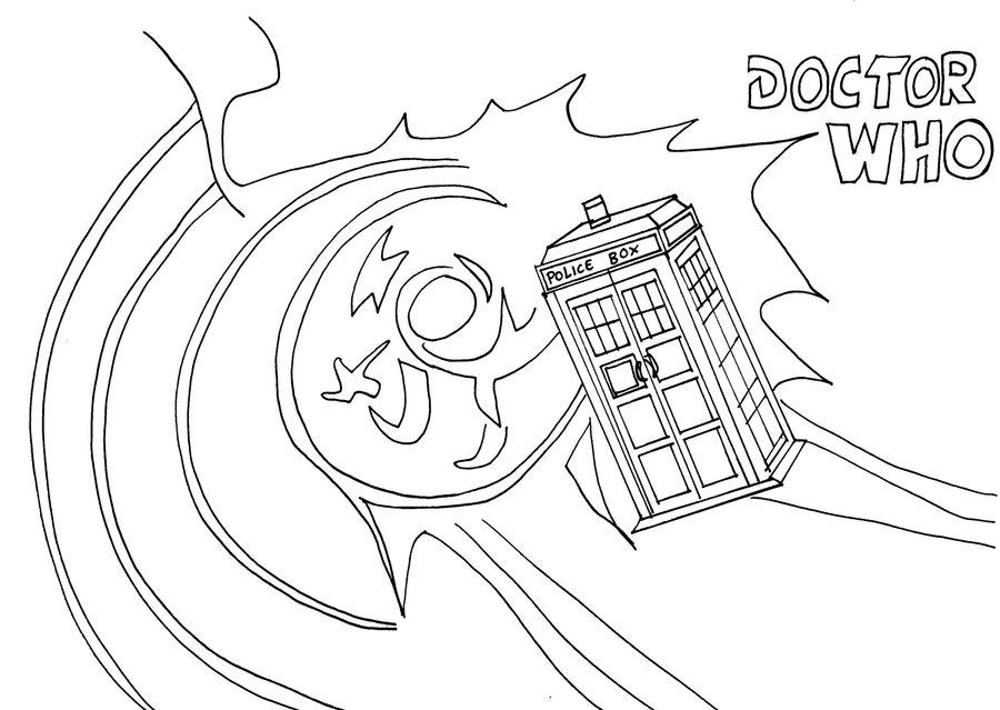 900x639 Dr Who Tardis Line Art By Whitestarflower