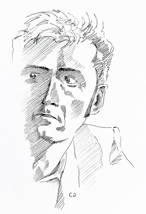 600x875 Realistic Celebrity Portrait Sketches Top Design Magazine