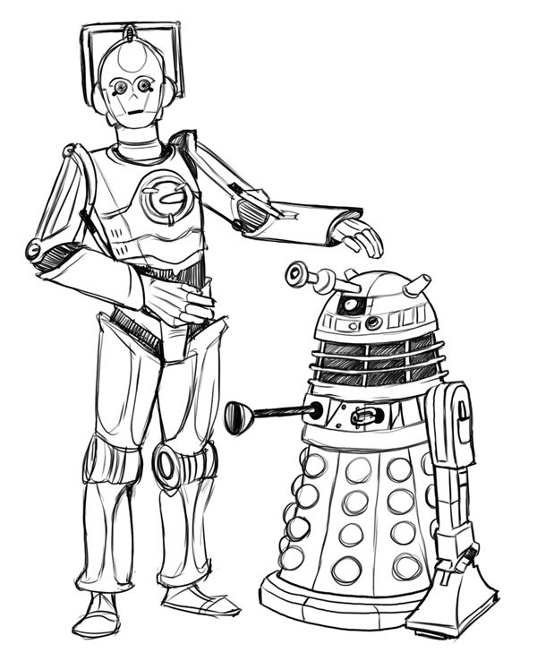 600x748 Building K9 From Dr.who Dr.who Vs Star Wars