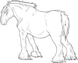 Draft Horse Drawing