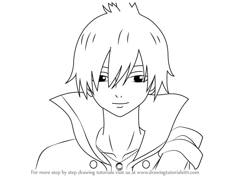 800x566 Learn How To Draw Zeref Dragneel From Fairy Tail (Fairy Tail) Step