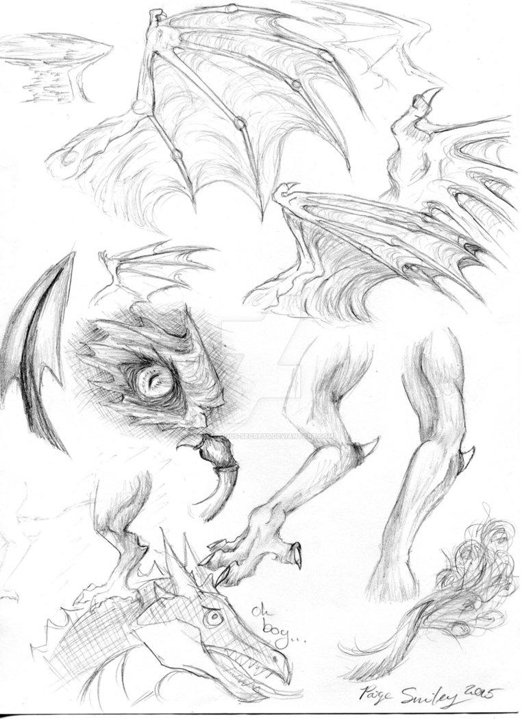 762x1049 Dragon Anatomy Sketches By I Windwalker I