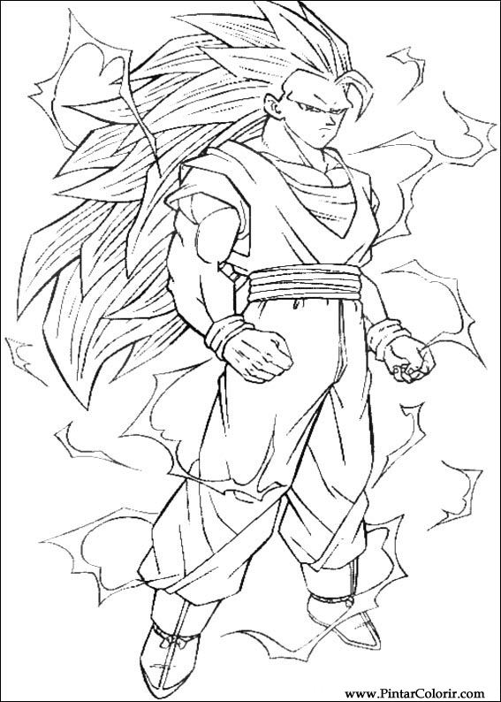 567x794 Drawings To Paint Amp Colour Dragon Ball Z