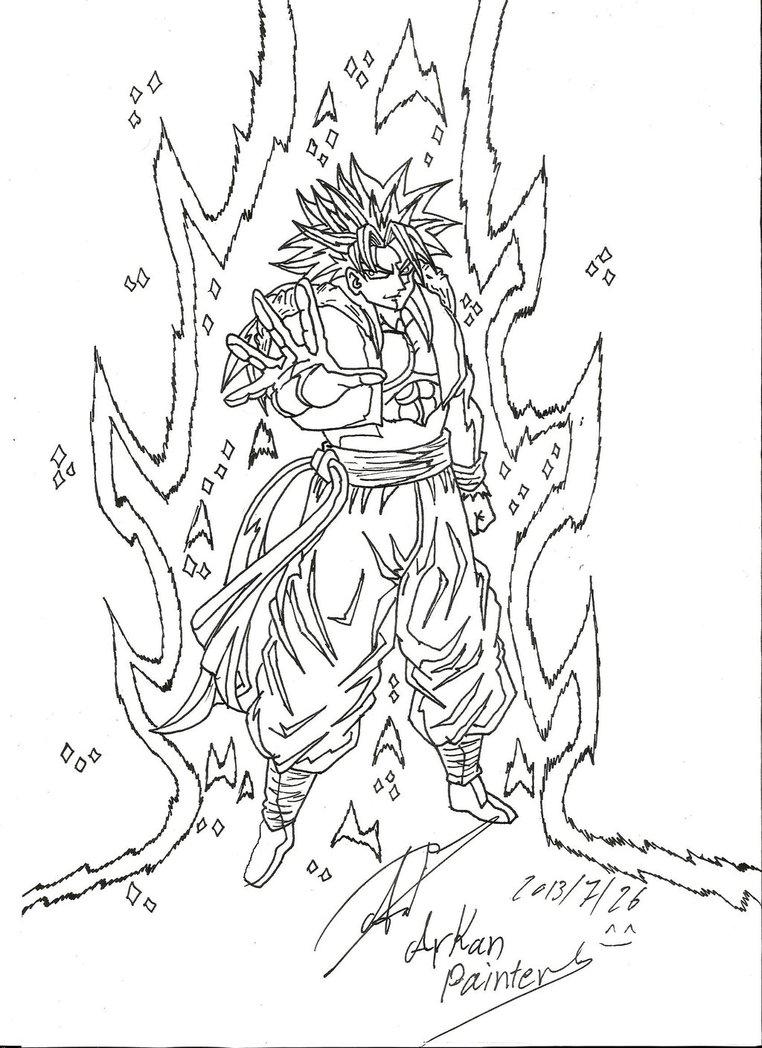 762x1048 Drawing Dragon Ball Z By Arkan10