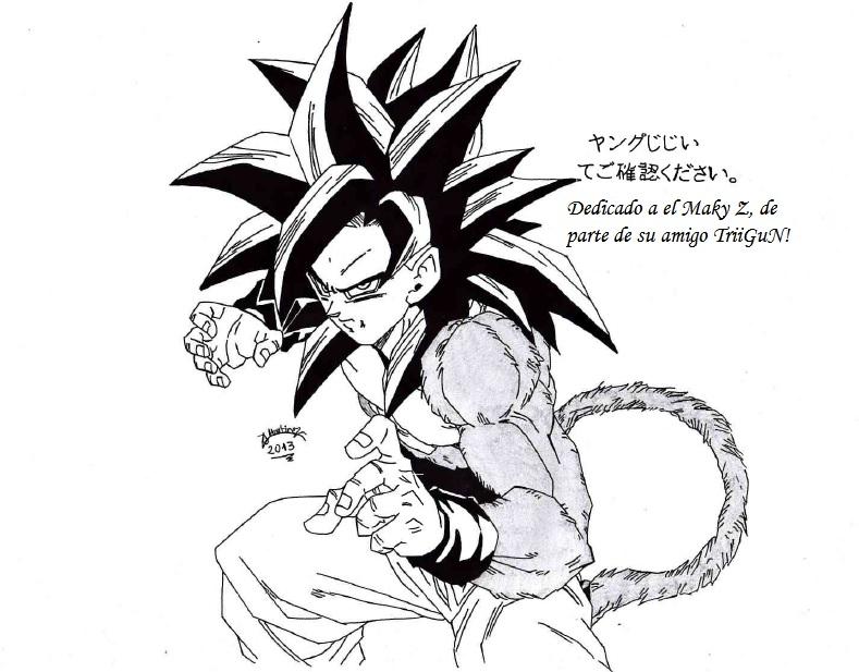 789x617 Dragonball Gt Son Goku Ss4 Busca A El Maky Z! By Triigun