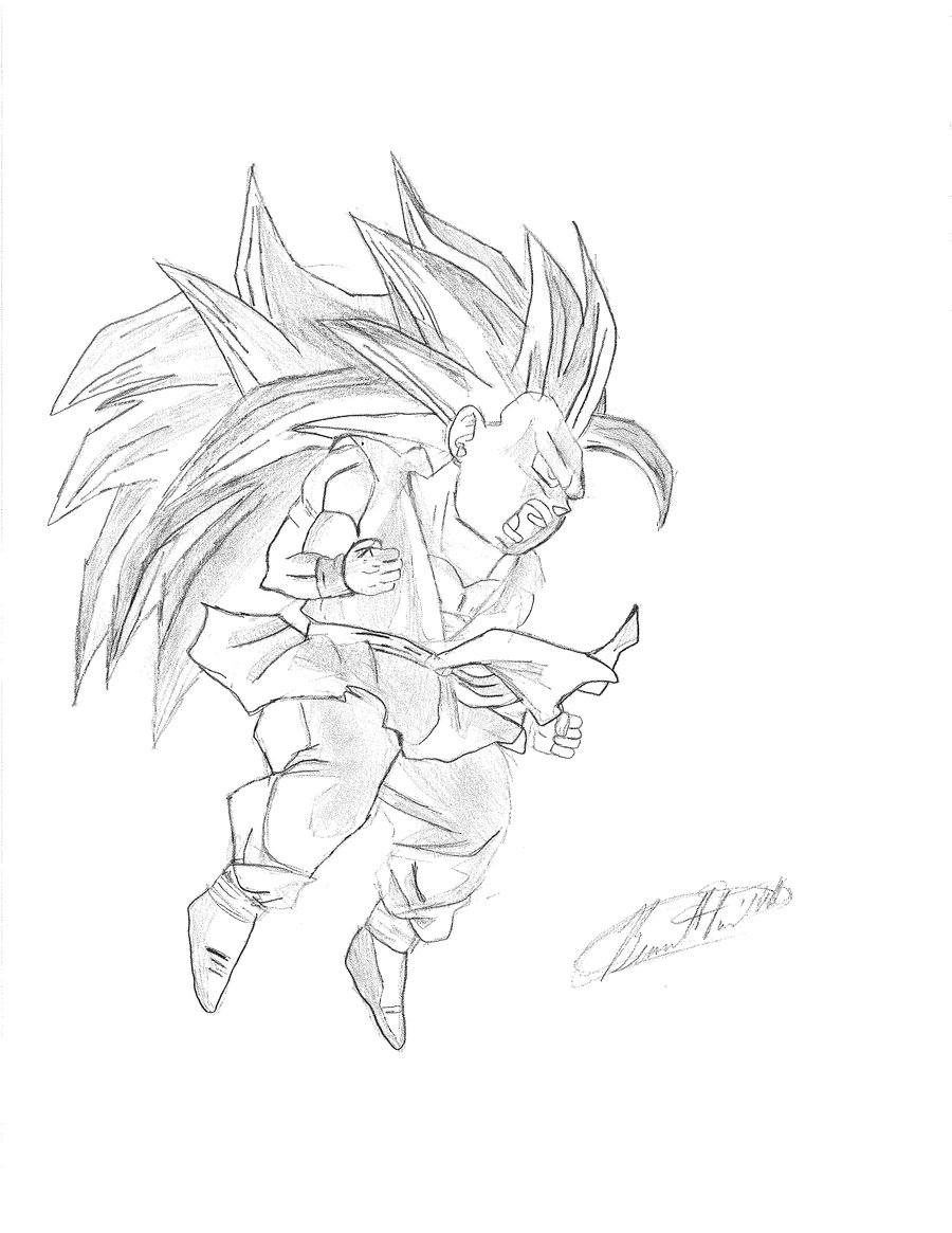 900x1165 Gt Goku Super Saiyan 3 By Twichair23