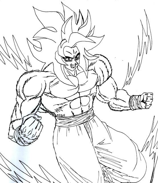 554x640 Goku Ssj4 Dragon Ball Gt By Fanartanimeg17