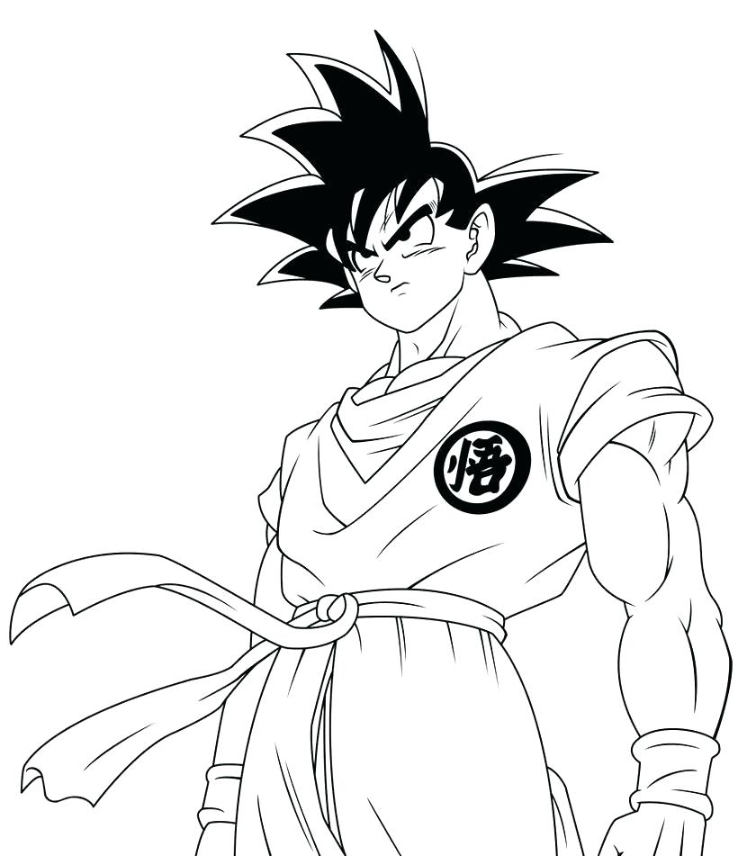840x951 Coloring Dragon Ball Gt Coloring Pages