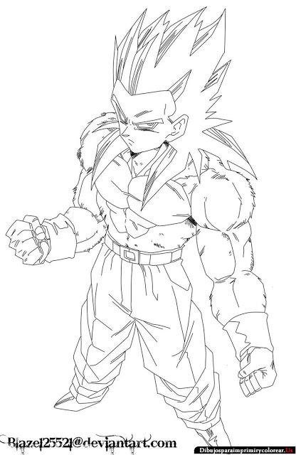 416x640 Dibujos De Dragon Ball Gt Para Imprimir Y Colorear Grabados