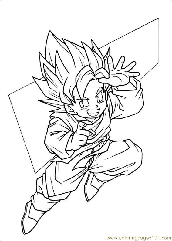 567x794 Dragon Ball Z 18 Coloring Page