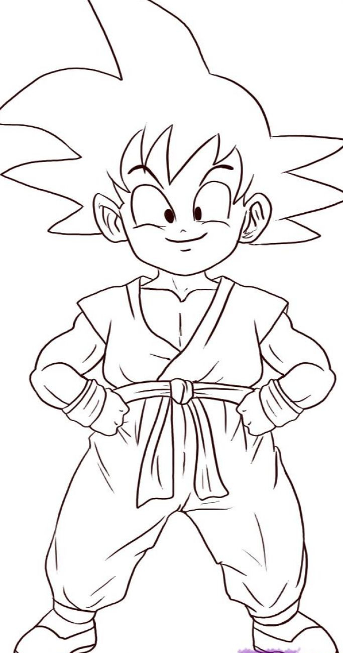 683x1298 Dragon Ball Z Cartoon Drawing