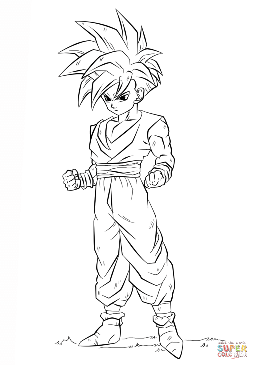 824x1186 Dragon Ball Z Gohan Coloring Page Free Printable Coloring Pages