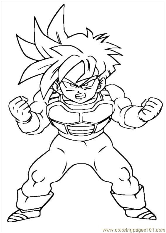 567x794 Dragon Ball Z 17 Coloring Page