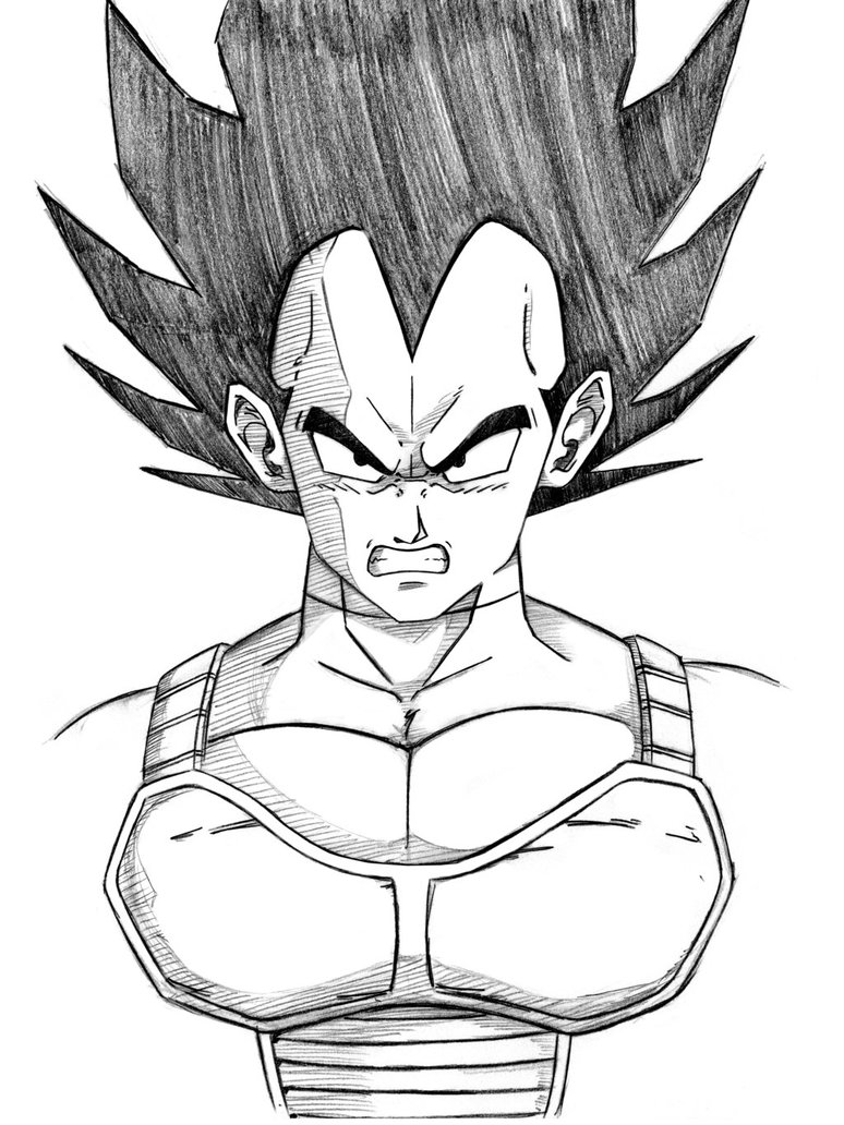 774x1032 Dbz Vegeta Sketch By Dgoad