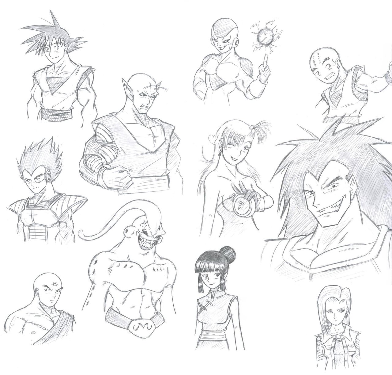 1280x1223 Dbz Characters In My Style By Chaosghidorah