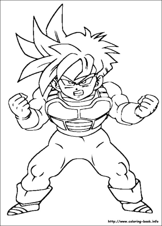 567x794 dragon ball z characters coloring pages