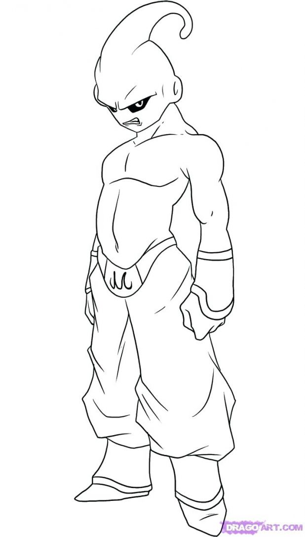 618x1086 How To Draw Kid Step By Dragon Ball Z Characters New Coloring