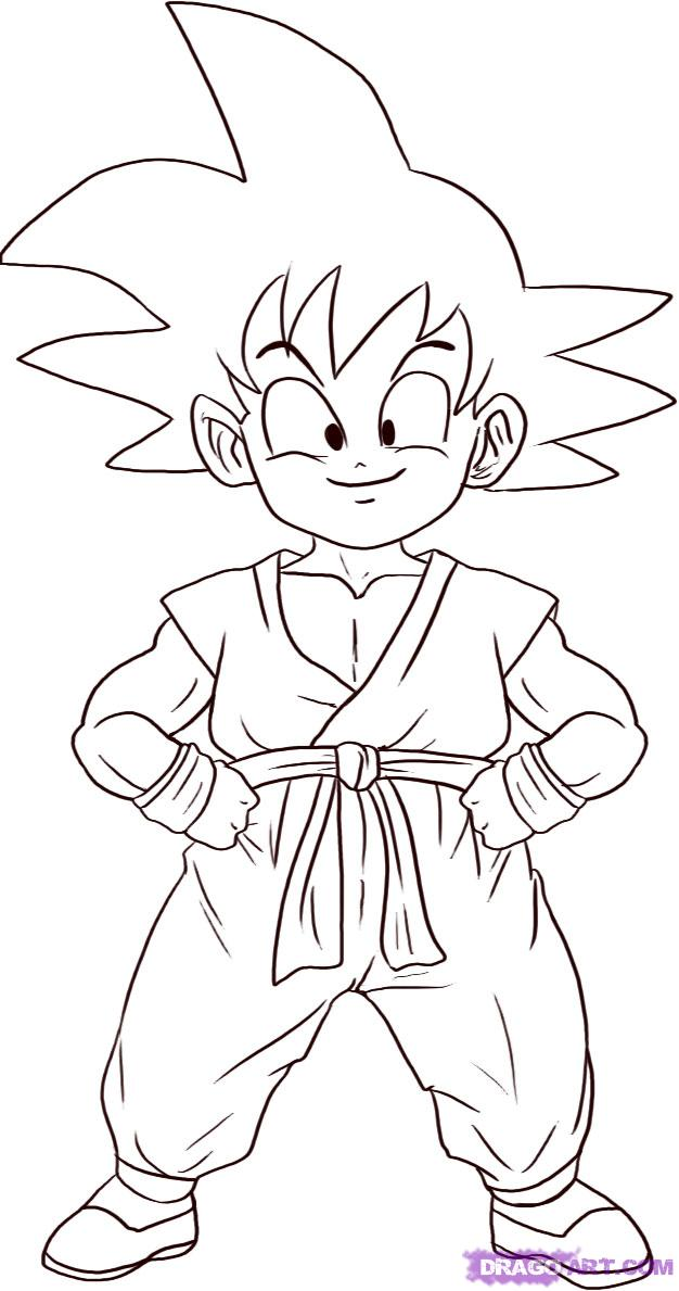 626x1189 How To Draw Son Goku, Step By Step, Dragon Ball Z Characters