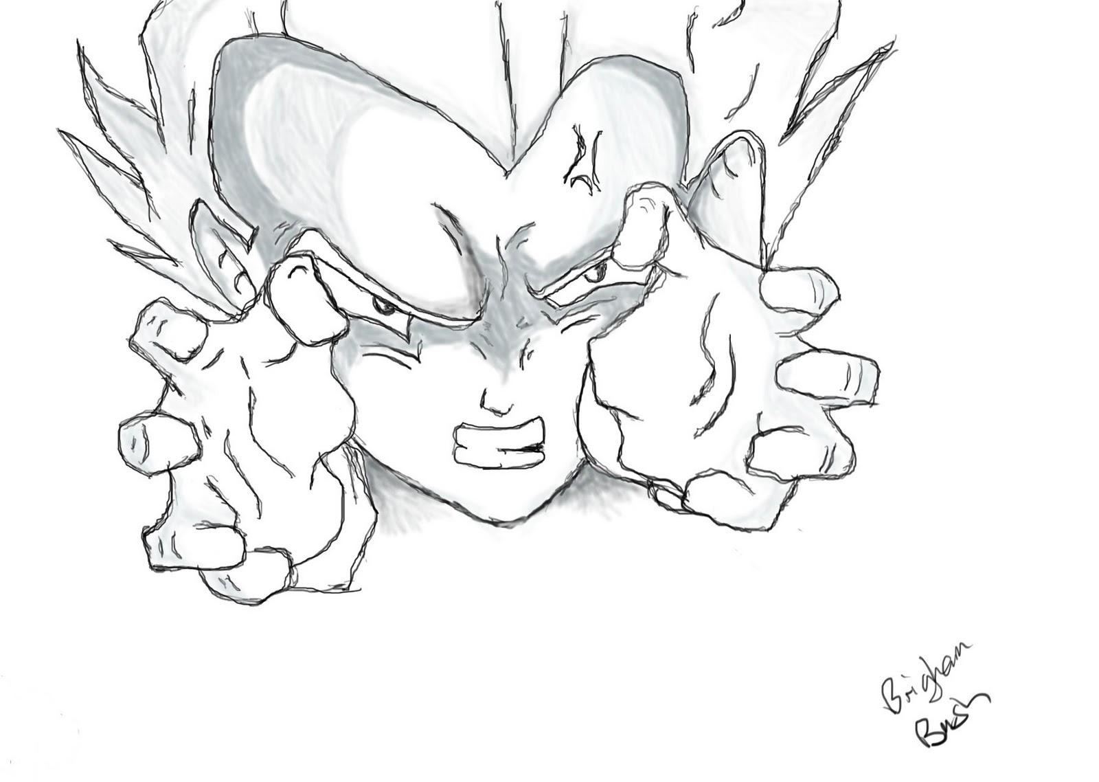 1600x1138 Brigham's Art Dragon Ball Z Character