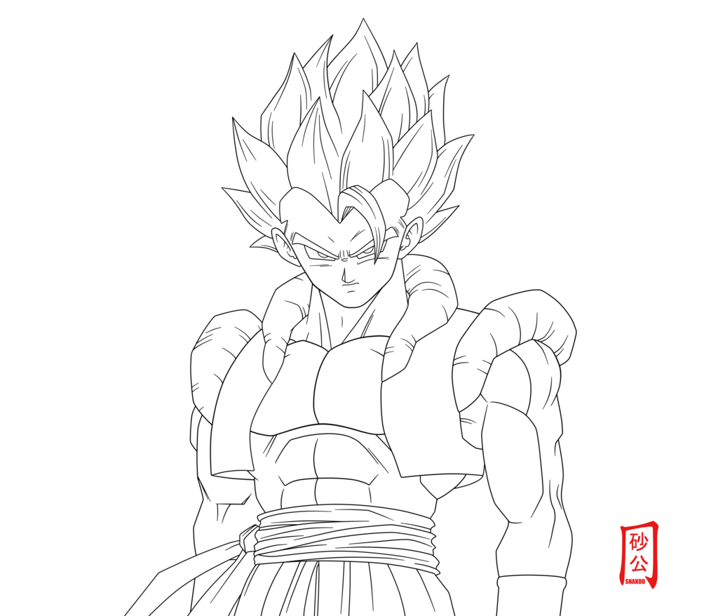1024x878 Dragon Ball Z Goku Ssj4 Drawings Dragon Ball Z SS4 Goku Coloring