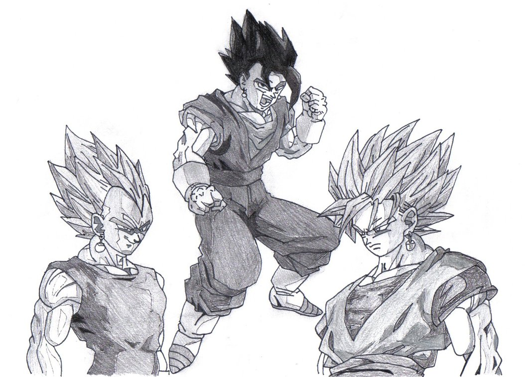 1054x758 Dragon Ball Z fusion by karintel on DeviantArt