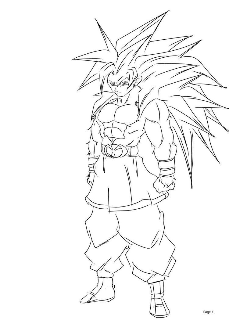 751x1062 Ball Z Goku Super Saiyan 3 Drawings
