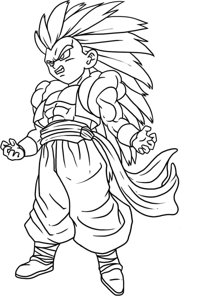 695x1024 Free Coloring Pages Of Traceable Drawing Of Goku, Dragon Ball Z