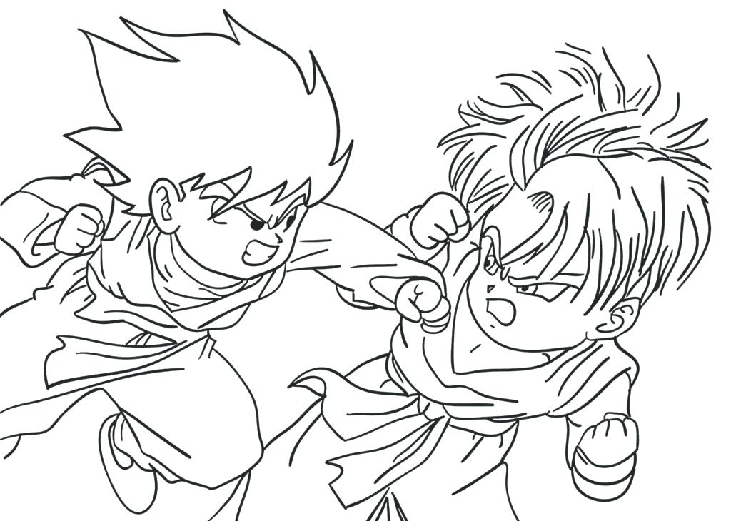 1024x730 Gotenks Coloring Pages Dragon Ball Z Coloring Pages On Coloring