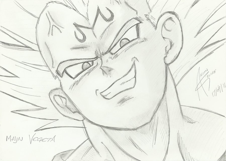 900x639 How To Draw Dragon Ball Z Vegeta