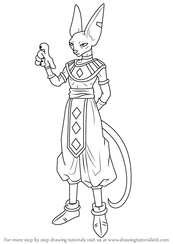 598x844 Learn How to Draw Beerus from Dragon Ball Z (Dragon Ball Z) Step