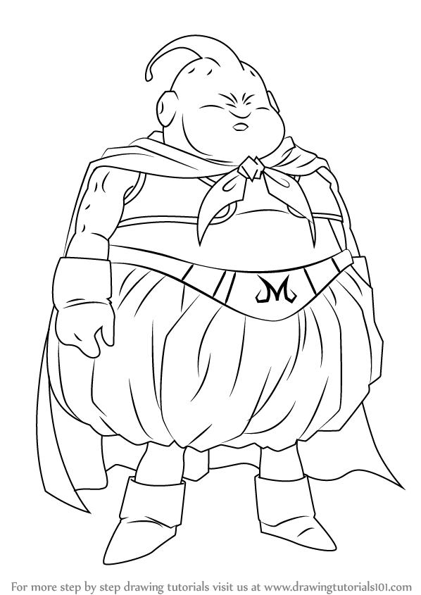 598x845 Learn How to Draw Fat Buu from Dragon Ball Z (Dragon Ball Z) Step